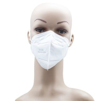 Adult White KN95 mask for Covid 19 Coronavirus front
