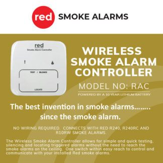 Red RAC Wireless Smoke Alarm Controller Box